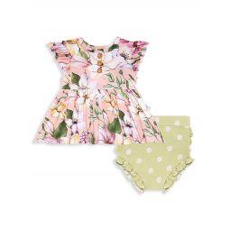 Babys & Little Girls 2-Piece Margot Henley Peplum Top And Bloomers Set