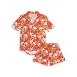 Paulina 2-Piece Short-Sleeve Shirt And Shorts Pajama Set
