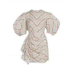 Pia Puff Sleeve Mini-Dress