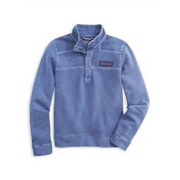 Little Boys & Boys Garment-Dyed Snap Placket Shep Polo