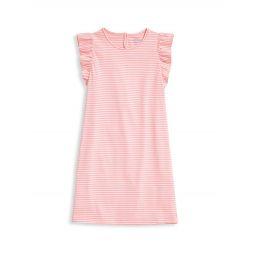 Little Girls & Girls Sankaty Striped Ruffle Dress