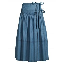 Tiered Chambray Skirt