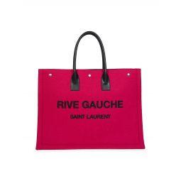 Large Rive Gauche Wool Tote Bag
