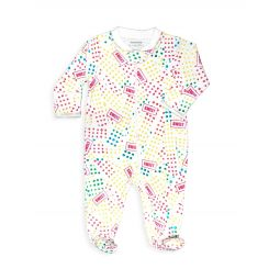 Baby Girls Candy Dots-Print Footie
