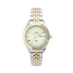 Waterbury Legacy Boyfriend Two-Tone Stainless Steel Bracelet Watch