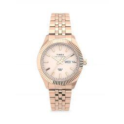 Waterbury Legacy Boyfriend Rose Goldtone Stainless Steel Bracelet Watch