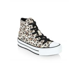 Little Girls & Girls Chuck Taylor Animal Print Sneakers
