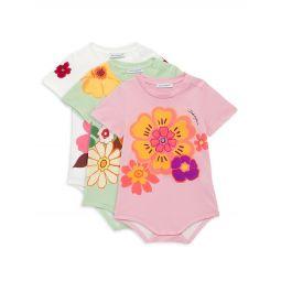 Baby Girls 3-Pack Floral Print Bodysuits Set
