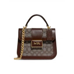 Alie Signature Jacquard Top Handle Bag