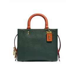 Rogue 25 Colorblock Leather With Suede Gusset Satchel