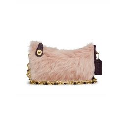 Coach Originals Swinger Leather & Shearling Shoulder Bag