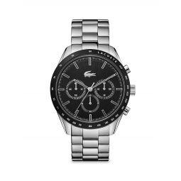 Boston Stainless Steel Chronograph Bracelet Watch