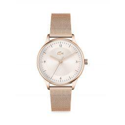 Club Rose Goldtone Steel Bracelet Watch