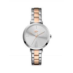 Geneva Two-Tone Stainless Steel & Crystal Bracelet Watch
