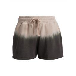 Dip Dye Drawstring Shorts