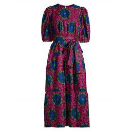 Simi Mama Geometric-Print Cotton-Blend Dress