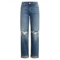 Niki Distressed Single Cuff Jean