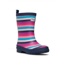 Little Girls & Girls Pretty Stripes Matte Rain Boots