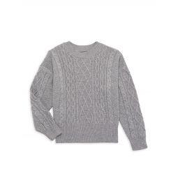 Girls Rae Aran Knit Sweater