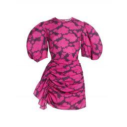 Pia Puff-Sleeve Minidress