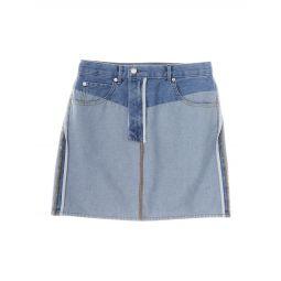 Reversed Denim Miniskirt