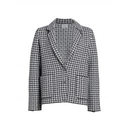 Knit Houndstooth Jacket