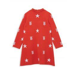Little Girls & Girls Denise Monogram Jacquard-Knit Dress