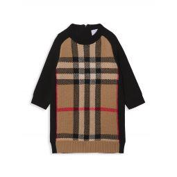Babys & Little Girls Dianne Archival Vintage Check Wool-Cashmere Sweater Dress
