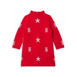Babys & Little Girls Denise Monogram Jacquard-Knit Dress