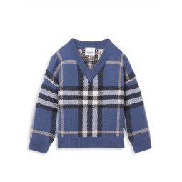 Little Boys & Boys Denny Check Intarsia Wool-Cashmere Sweater
