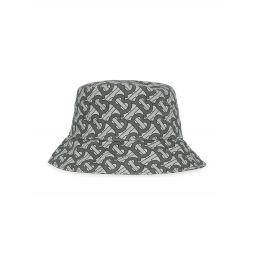 TB Summer Monogram Printed Cotton Bucket Hat