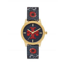 Gigi Two-Tone Floral Leather Watch