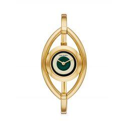Evil Eye Goldtone Bangle Watch