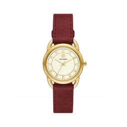 Ravello Luggage Leather-Strap Watch