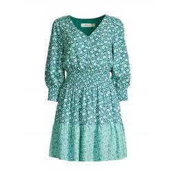 Floral Smocked Mini Dress