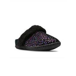 Little Girls & Girls Nakiska Iridescent Polka Dot Suede Slippers