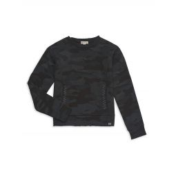 Little Boys & Boys Sidelines Camo-Print Crewneck Sweatshirt