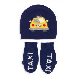 Little Kids 2-Piece Taxi Hat & Glove Set