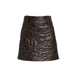 Abstract Leather Mini-Skirt
