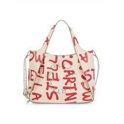 Graffiti Logo Tote Crossbody Bag
