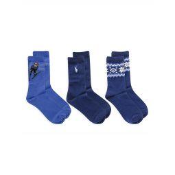 Little Boys & Boys 3-Pack Skier Bear Socks Set