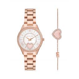 Lauryn 2-Piece Rose Goldtone Stainless Steel Watch & Bracelet Set