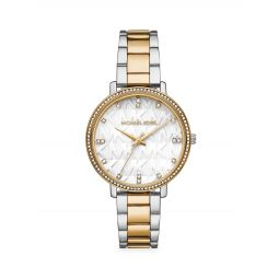 Pyper Two-Tone Stainless Steel Bracelet Watch