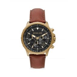 Cortlandt Chronograph Brown Leather Watch
