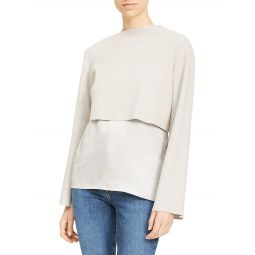 Layered Long-Sleeve Top