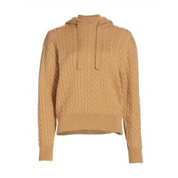 Nathalie Cable-Knit Hoodie