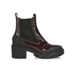 Chelsea Leather Lug Ankle Boots