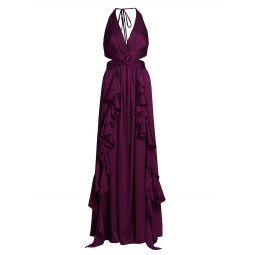 Ruffle Cutout Gown