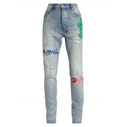 Ksubi x Hidji Friends & Family Playback Boo Distressed Jeans
