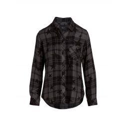 Hunter Plaid Star-Print Shirt